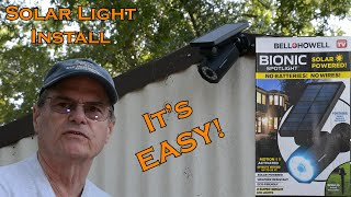 Outside Solar Light Install. Bell and Howell