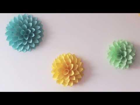 Květiny z papíru DIY. Dekorace na zed´. Svatební dekorace. Ozdoba do pokoje.