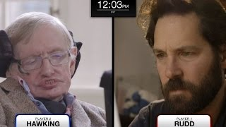 Stephen Hawking faces Paul Rudd in epic chess match (feat. Keanu Reeves)