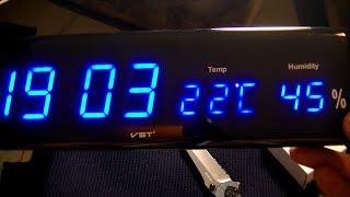 Настенные электронные часы с датчиками температуры и влажности воздуха с Алиэкспресс