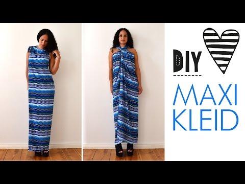 DIY Maxikleid ohne Nähen in 5 Minuten - Sommerkleid, Strandkleid, Weste, langes Kleid selbst machen