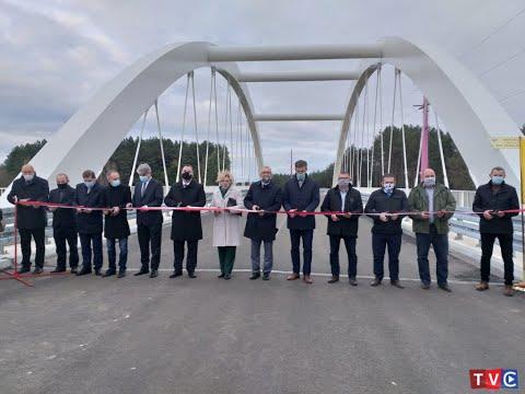 Uroczyste otwarcie mostu im. Św. Jana Pawła na Orzycu w Chorzelach