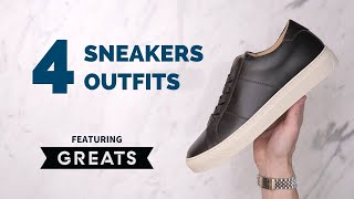 Mens Sneakers Unboxing & Try-On | Sneakers Outfit Ideas For Guys Ft. GREATS