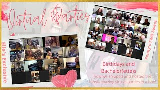 Birthday Party In A Box | Bachelorette Party In A Box! HOW WE THREW THE MOST AMAZING VIRTUAL PARTIES