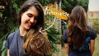 I Dyed My Hair Blonde Using TURMERIC! | Natural Hair Dye