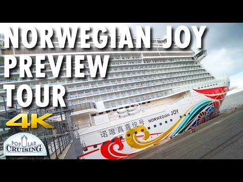 Norwegian Joy Preview Tour ~ Norwegian Cruise Line ~ Cruise Ship Tour [4K Ultra HD]