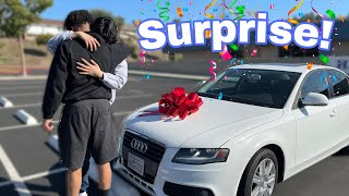 Surprising MY Lil Brother With His Dream Car ! *Emotional*