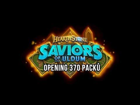 Opening 370 packů Saviors of Uldum