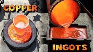 Making 5 Pound Copper Ingots From Scrap