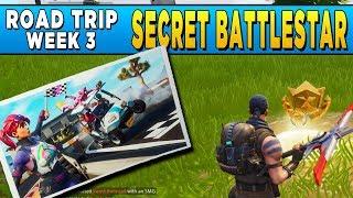 Fortnite Secret Battlestar Road Trip Challenge Week 3 - Secret Loading Screen Battlestar Location