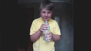 i can drink this water bottle in 1 second..