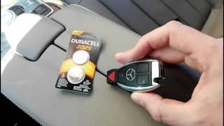 15. Замена батарейки в ключе, мерседес. Mercedes key battery change