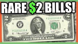 $2 DOLLAR BILLS WORTH MONEY - RARE MONEY TO LOOK FOR IN CIRCULATION!!