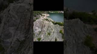 DJI FPV Mountain Surfing St Mary's Glacier #shorts