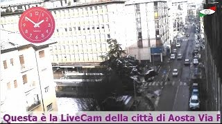 preview picture of video 'Aosta Valle d'Aosta Turismo webcam web cam livecam live cam Via Festaz Aosta Valle d'Aosta'