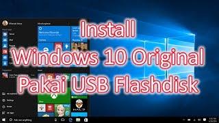 Cara Mudah Install Windows 10 Original di Notebook Asus E202S (FreeDOS) Pakai USB