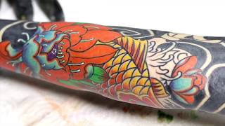 Full Sleeve Japanese Tattoo Time Lapse