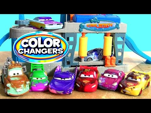Disney Pixar Cars Color Changers Car Wash Playset Brand New Mater And Wingo Color Changing Kids Toys