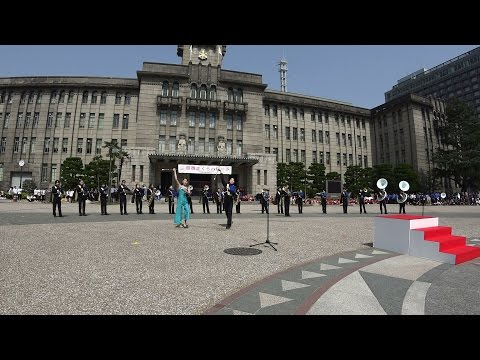 第14回さくらパレード 京都市立開睛中学校吹奏楽部 交歓コンサート
