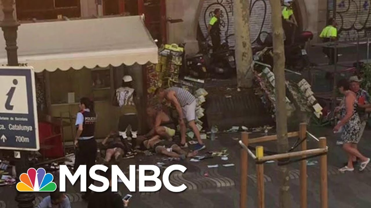 Massive Van Crash Reported In Barcelona, Spain | MSNBC thumbnail