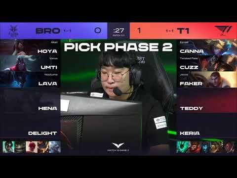 Faker選出卡牌難到!!!  SKT vs BRO G2