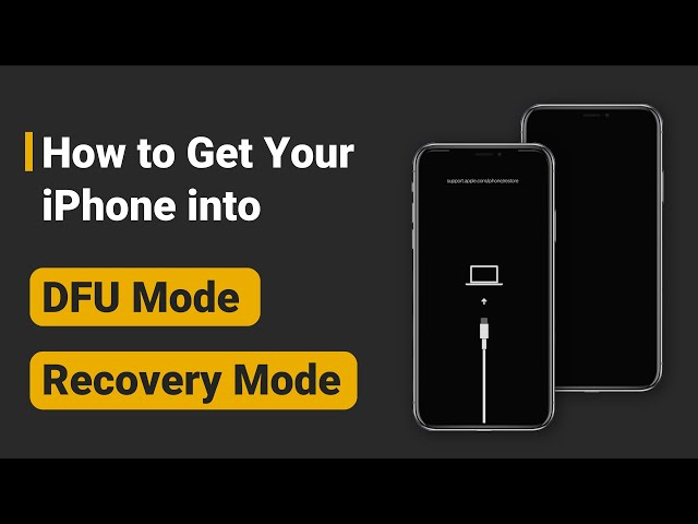 (iPhone 12 Supported) How to Get iPhone into DFU Mode and Recovery Mode