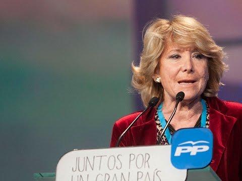 Intervención de la presidenta del PP de Madrid, Esperanza Aguirre