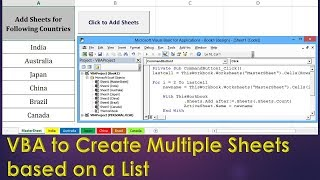Add multiple worksheets to excel workbook using vba most popular vba to create new sheets based on a list excel vba example by exceldestination ibookread ePUb