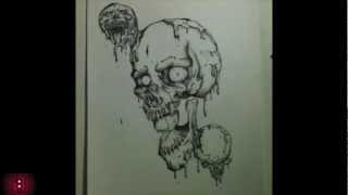 Memento Mori Skulls- Traditional Speed Drawing (Ink)