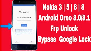 NOKIA 5 TA-1053 8 1 1 (frp) google account bypass with out pc or any