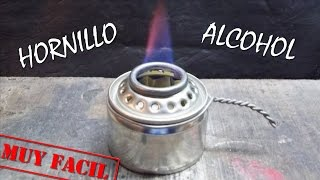 """HORNILLO DE ALCOHOL y ALGODÓN CASERO """"muy Facil""""."""