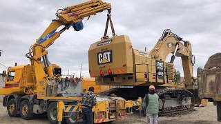Disassembly And Transporting By Side The Huge Cat 6015B - Sotiriadis Brothers
