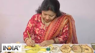 Coronavirus: Artists make Madhubani art-designed face masks in Patna