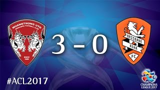 HIGHLIGHTS Muangthong United have advanced to the last 16 of ACL2017 for