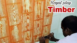 Asian Paints Royal Play Timber Interior Wall Design In Jalan- 9890506053