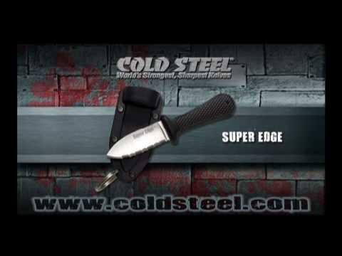 "Cold Steel Super Edge Fixed Blade Neck Knife (2"" Satin Serr) 42SS"