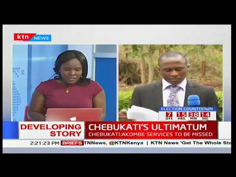 CHEBUKATI'S ULTIMATUM: Chebukati's statement on election preparedness