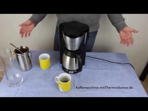 Kaffeemaschine mit Thermoskanne (Testsieger Philips HD7546/20)