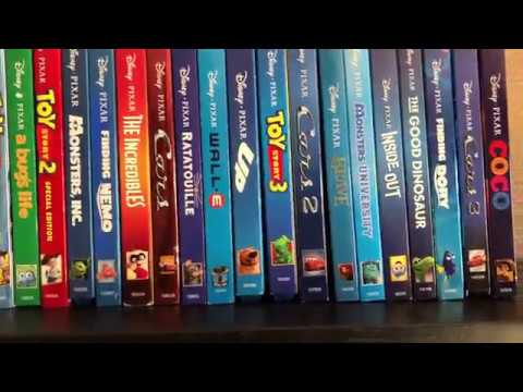 My Pixar Blu Ray Movie Collection