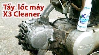 Bất ngờ với dung dịch Tẩy rửa lốc máy xe X3 Cleaner - Stain Remove