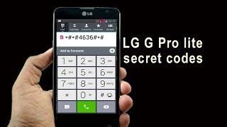 LG G Pro lite secret codes