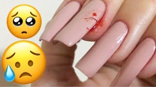 Broke My Long Nail...How Much My Nails Grew In A WEEK after the break??
