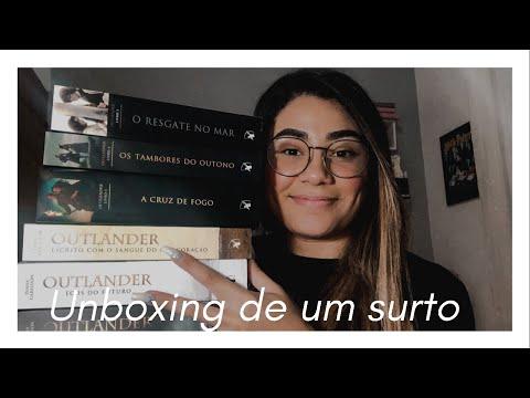 Unboxing livros de Outlander | Recanto estelar