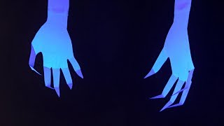 DIY Halloween Party Decor - Spooky Specter Claws - Easy, Inexpensive Halloween Decorating