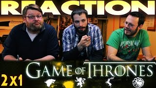 """Game of Thrones 2x1 REACTION!! """"The North Remembers"""""""