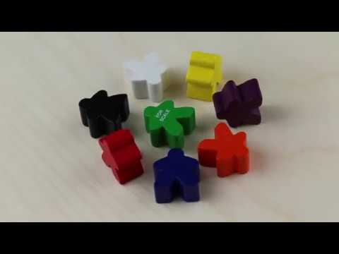 Meeple, Wood, White video
