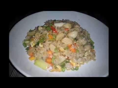 Video Cara membuat nasi goreng putih