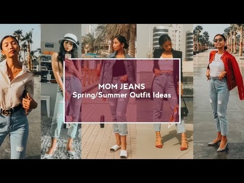 Mom Jeans Spring/Summer Outfit Ideas #MomJeans #HowtoStyle