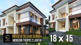 Video Desain Rumah Modern 2 Lantai Ibu Hesti di  Bogor, Jawa Barat