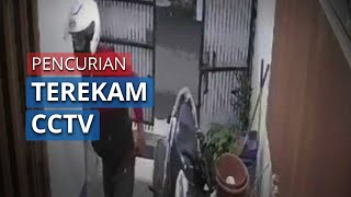 Aksi Pencurian Terekam Kamera CCTV di Komplek Cibolerang Indah